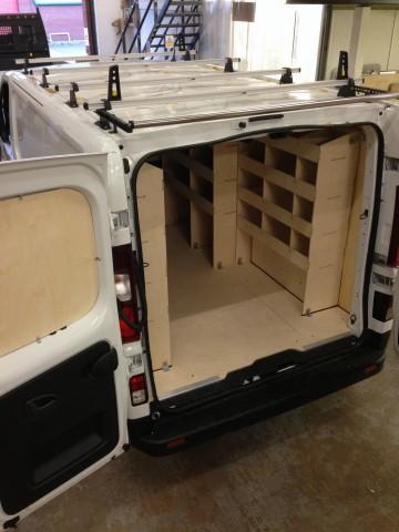 Example of internal van racking