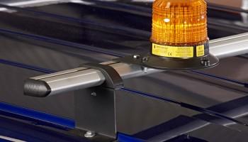 Amber flashing light on Van Guard roof rack