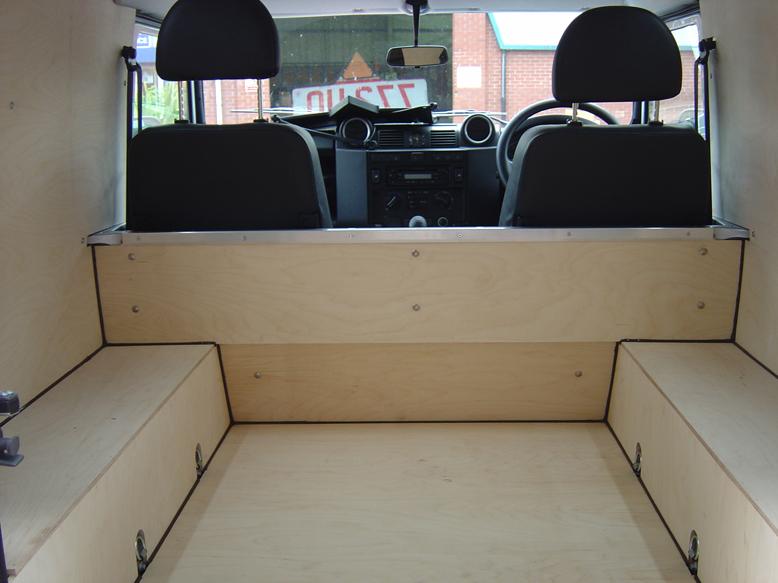 Land Rover Defender 110 >> Ply Lining Gallery - Van Guard Full Fit