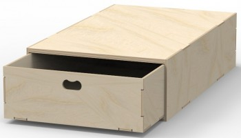 VL200/A Pre-assembled floor box in birch plywood