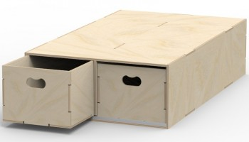 VL200/B Pre-assembled floor box in birch plywood