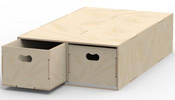 VL200/B Pre-assembled floor box in birch plywood