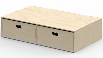 VL200/C Pre-assembled floor box in birch plywood