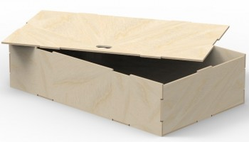Pre-assembled box unit in birch plywood